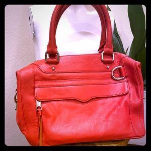 Rebecca Minkoff red top handle satchel
